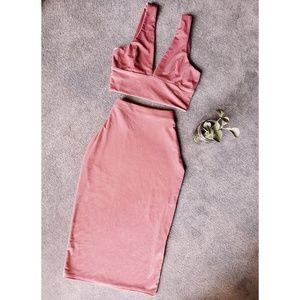 Pink Velvet Set